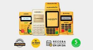 Máquina de cartão de crédito e débito para loja de conveniência