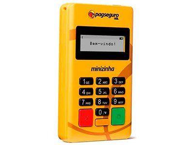Máquina de cartão de crédito e débito para loja de sapato