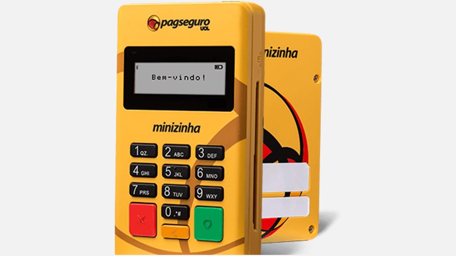 Máquina de cartão de crédito e débito para depósito de material