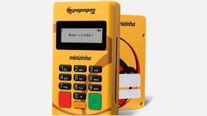 Máquina de cartão de crédito e débito para vendedor ambulante