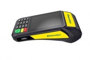 Máquina de cartão de crédito e débito Banco do Brasil