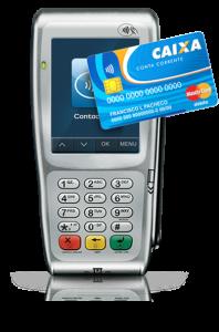 Máquina de cartão de crédito e débito Caixa