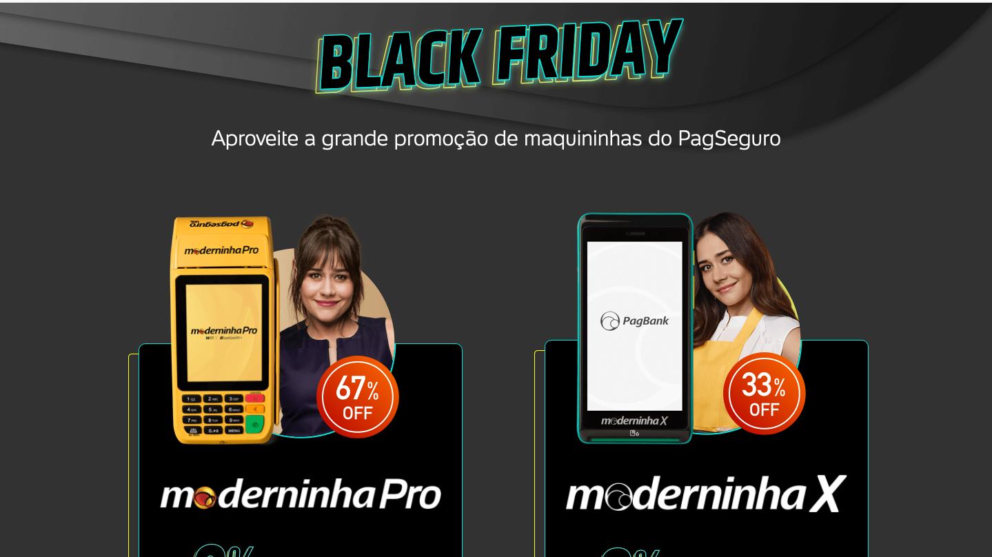 Black Friday maquininhas Pagseguro