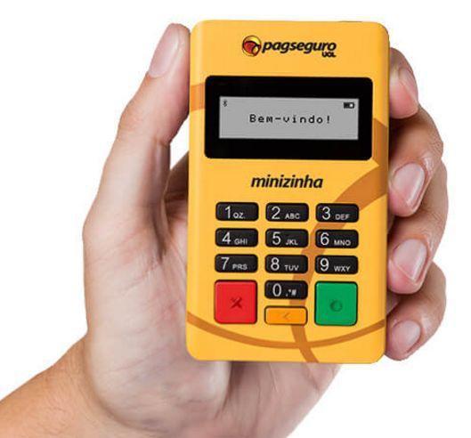 Máquina de cartão para brechó