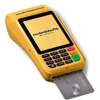 Máquina de cartão que imprime comprovante