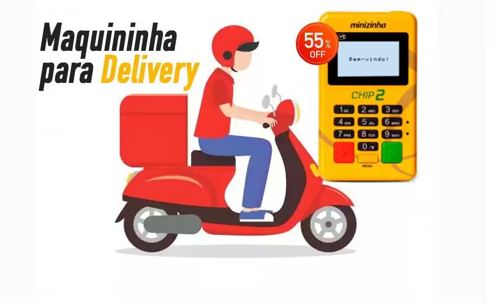 Melhor máquina de cartão para delivery