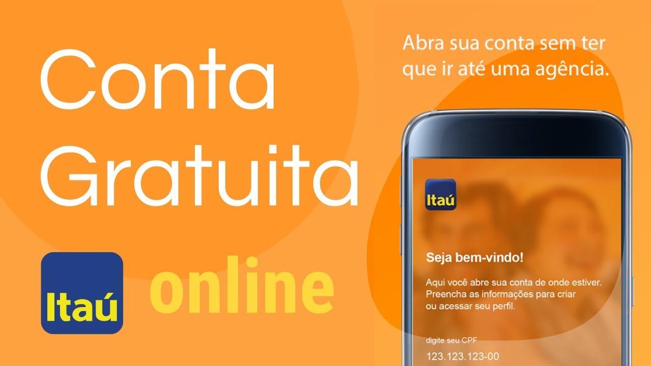 Abrir conta online Itaú