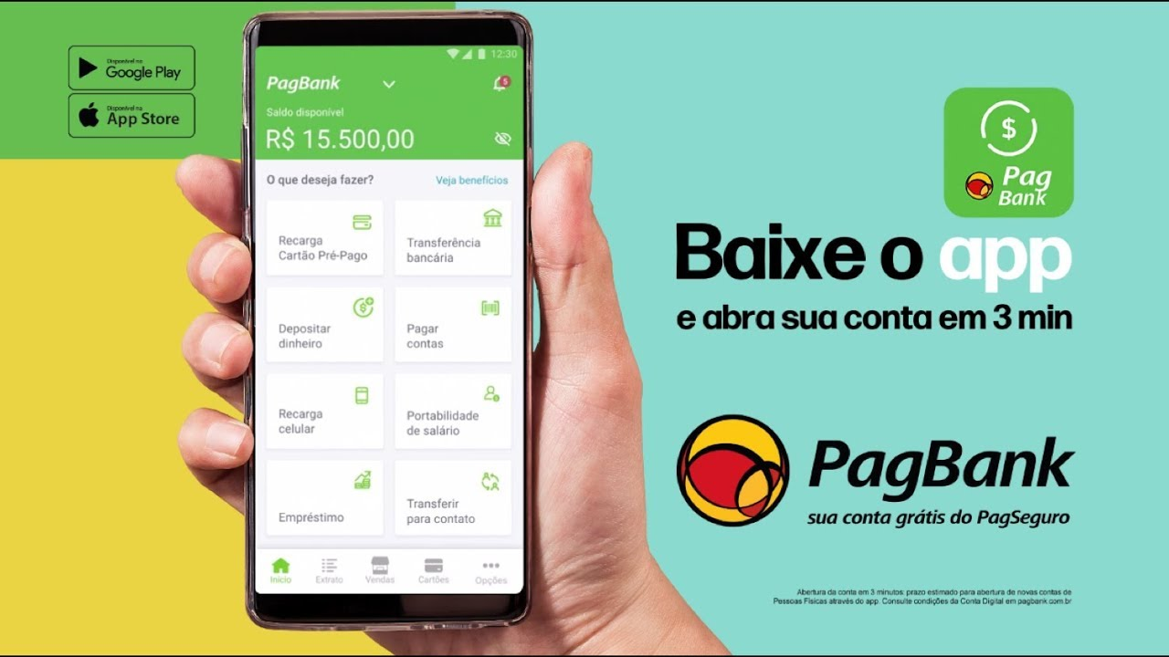 Abrir conta PagSeguro